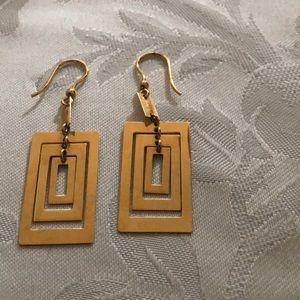 18k gold over bronze pierced earrings